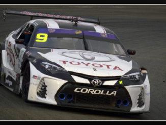 """Bernal y Emilio """"Milo"""" Valverde en su Toyota Corolla (# 9), se adjudicaron las 3 Horas de Costa Rica"""