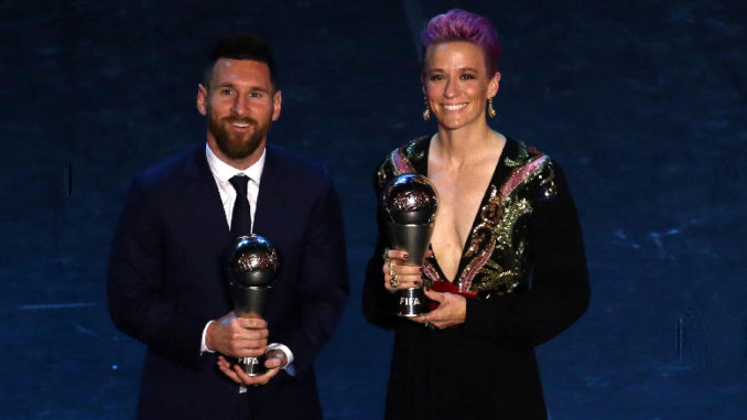 Premio The Best 2019 - Lionel Messi y Megan Rapinoe