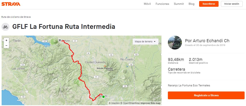 GFLF La Fortuna 2019 - ruta intermedia