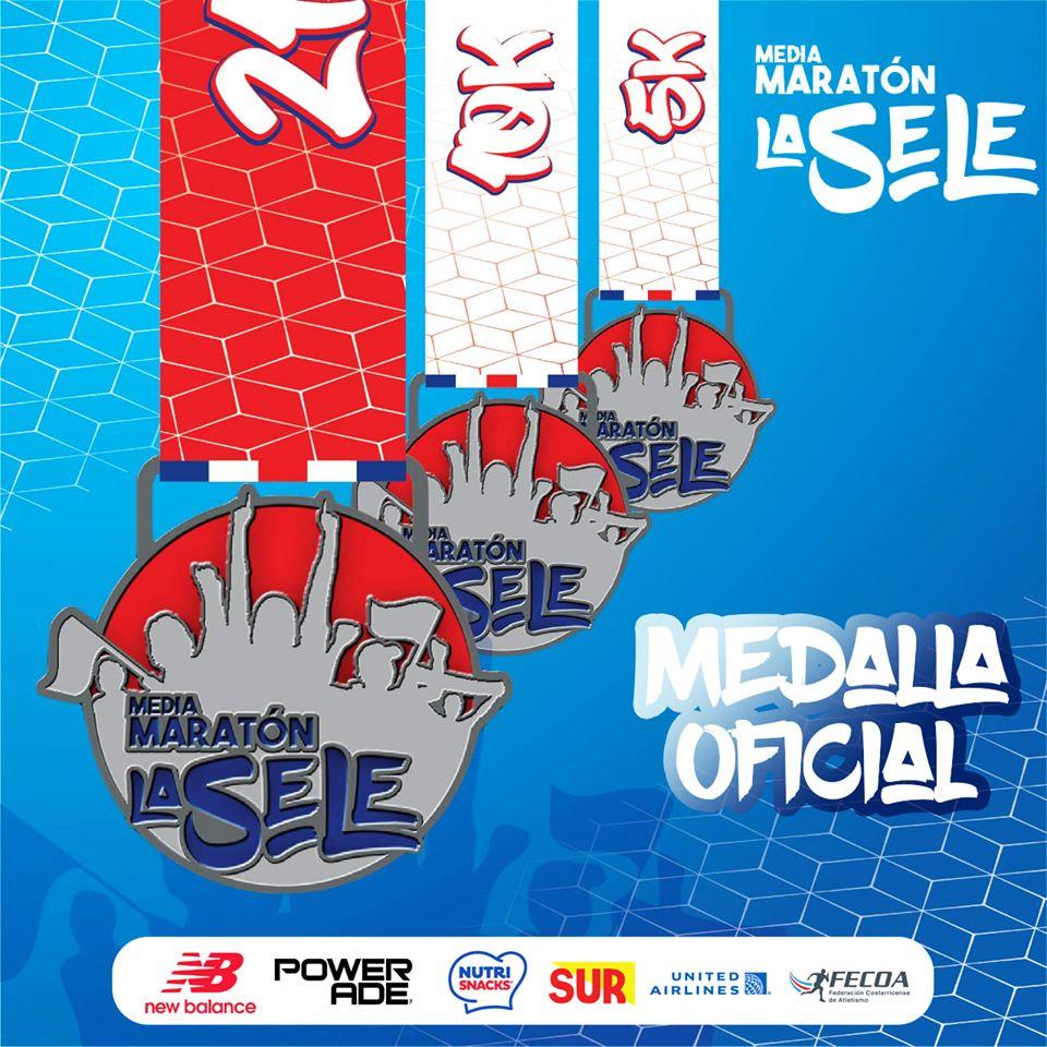 Media Maratón La Sele 2019 - medalla oficial