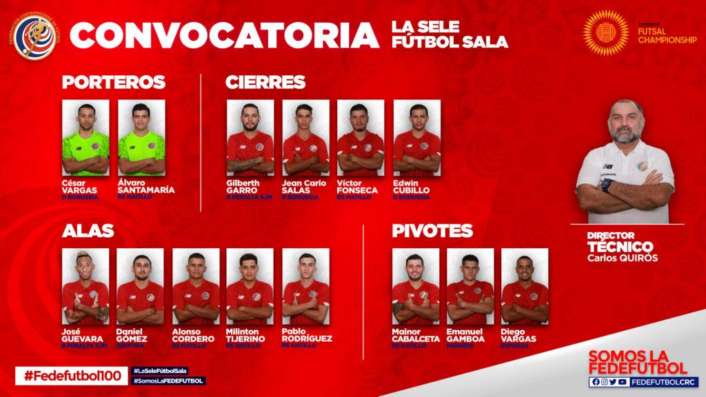 Costa Rica Futsal - Seleccionados nacionales - Premundial Futsal Concacaf