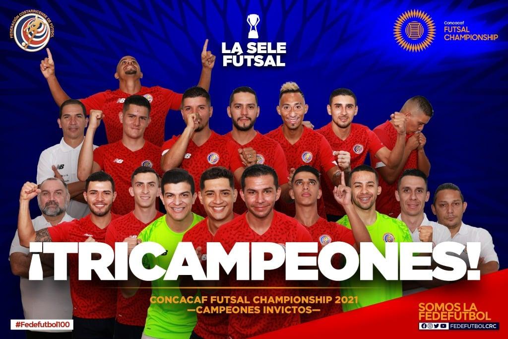 Costa Rica Futsal - Tricampeona del Premundial Futsal Concacaf